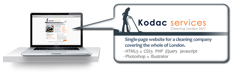 kodac cleaning website